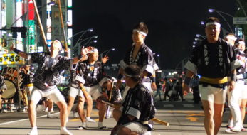 うえの夏まつりパレード 竿燈
