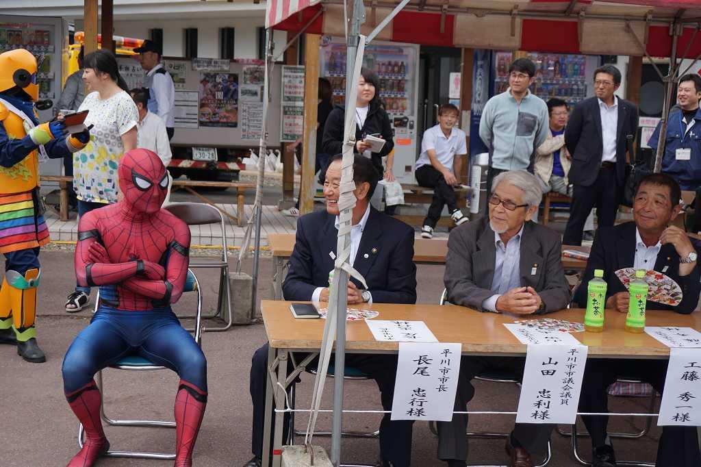 市長とも、もはや仲良し。