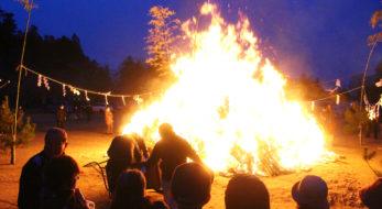 どんと祭(相馬市)開催!正月の終わりを告げる火祭りで餅を焼き、無病息災にあずかろう!