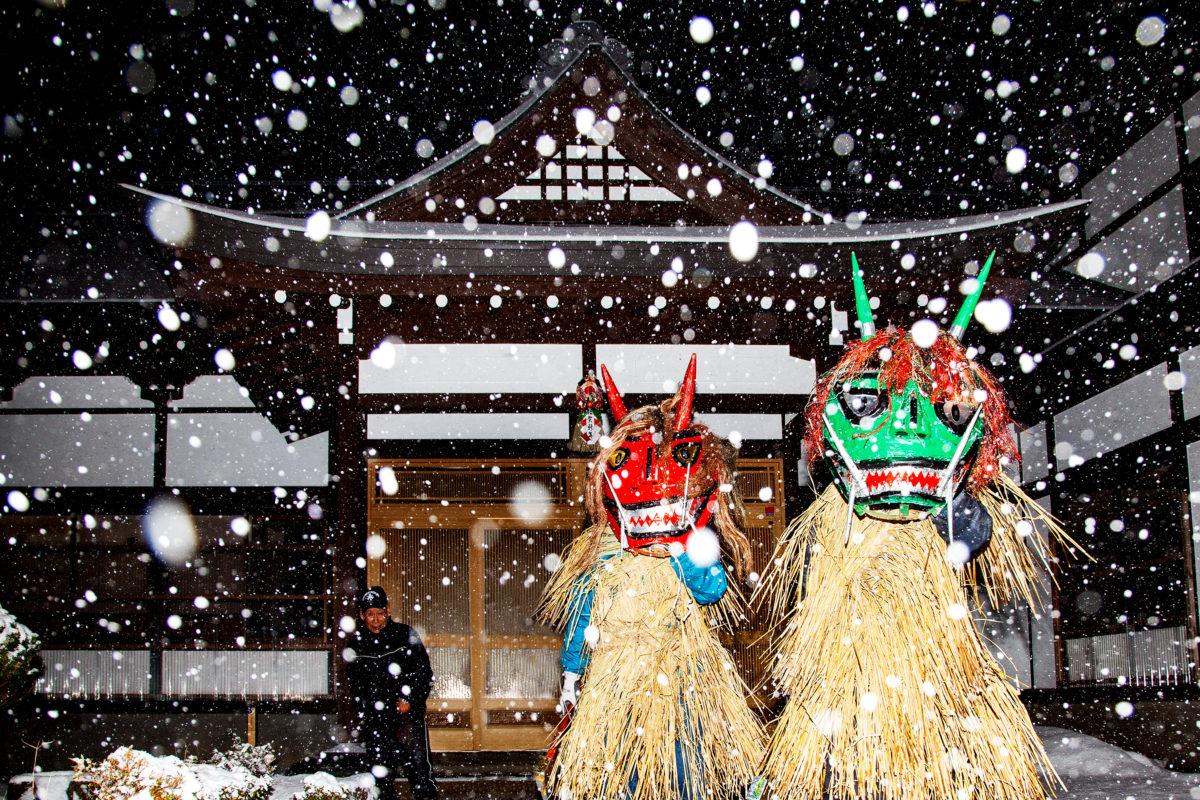 【ナマハゲ】秋田県男鹿、ユネスコ登録来訪神ナマハゲ  密着!大晦日のナモミはぎ