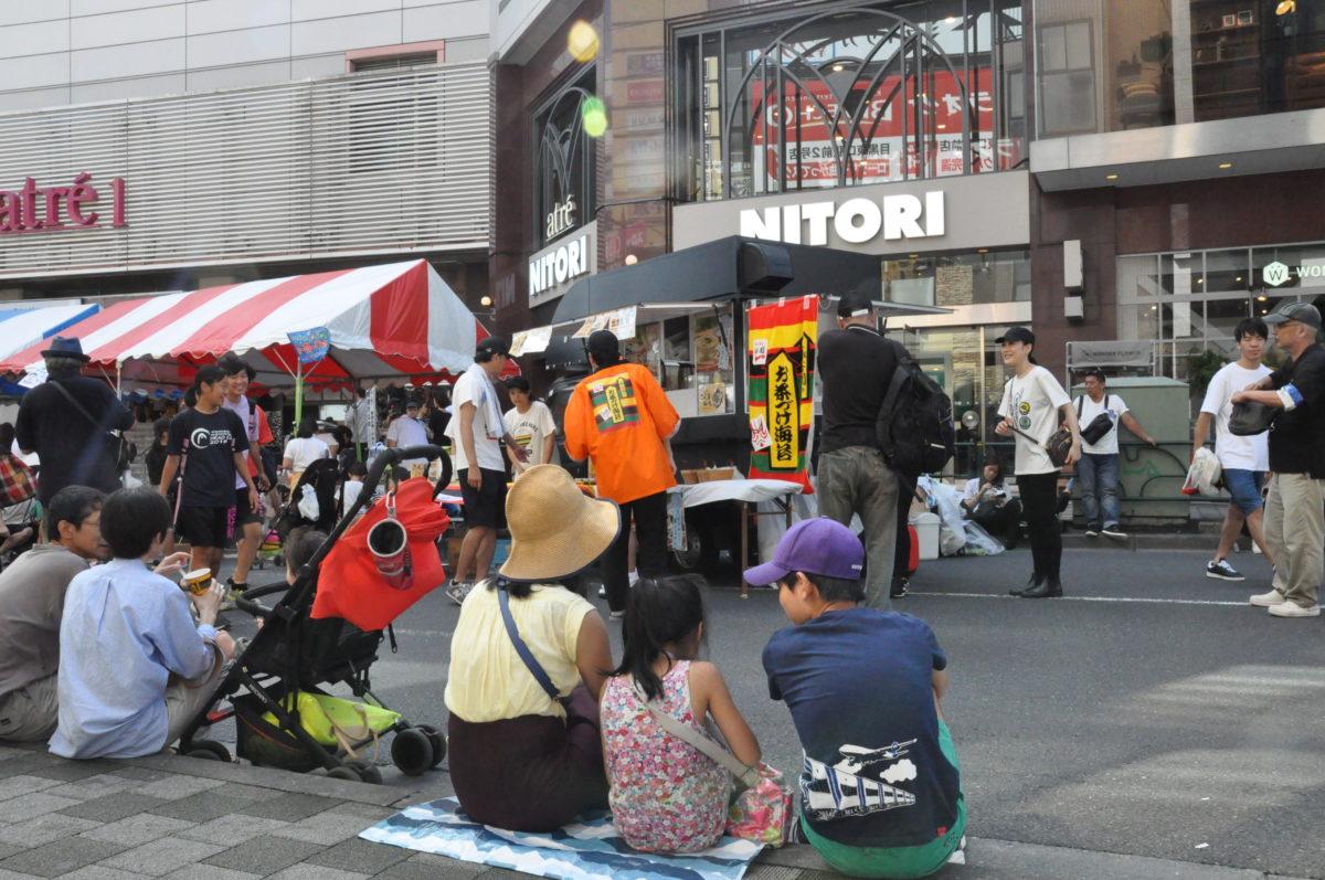 目黒のさんま祭りでの出店の様子