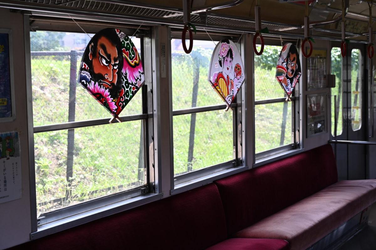 ねぷた列車。8月下旬まで開催中