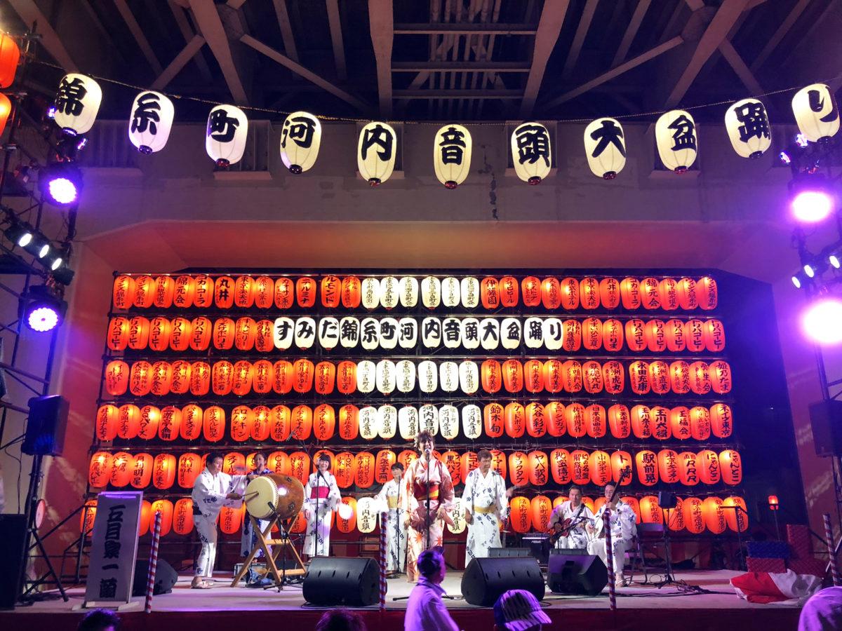 すみだ錦糸町河内音頭大盆踊りの舞台