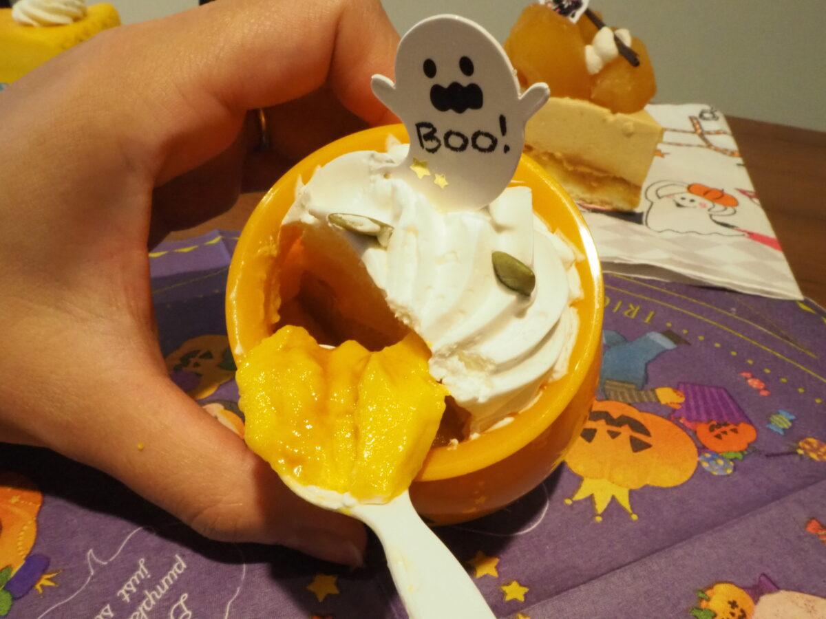 不二家のオバケかぼちゃの焼きプリン
