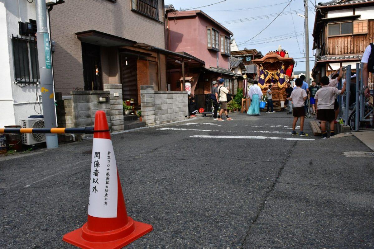 岸和田だんじり祭り、9月18日、紙屋町