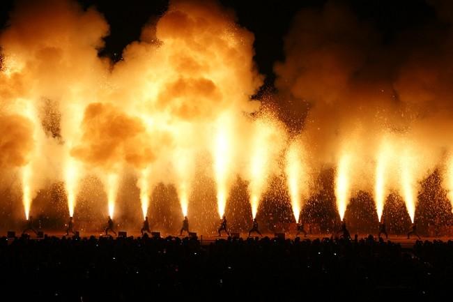 手筒花火でエール!豊橋から47都道府県に届ける