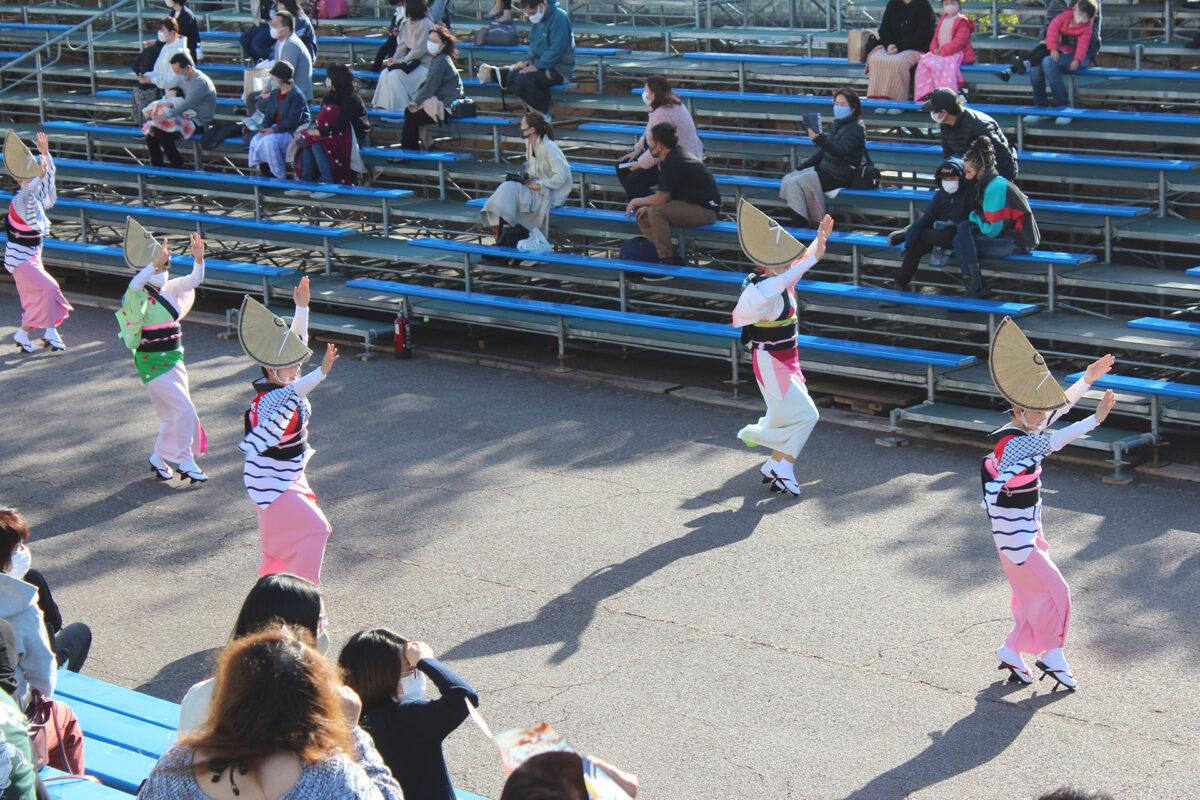 徳島県阿波踊り協会による女踊りの流し踊り