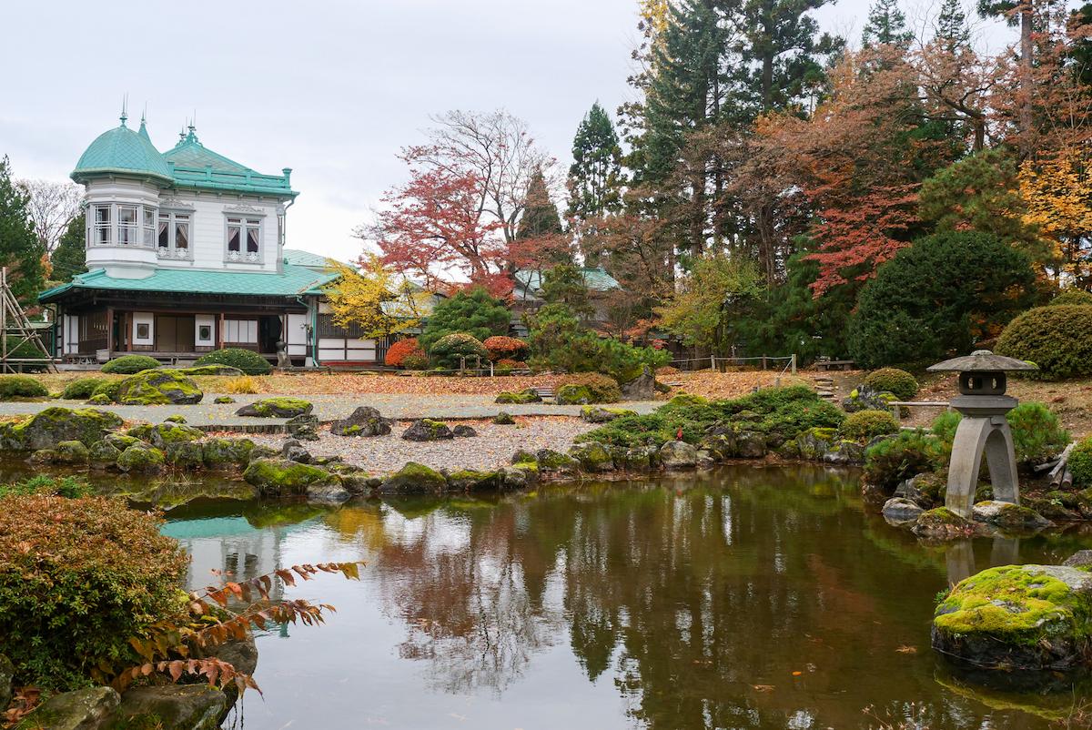 盛美館と庭園の美しいコラボを次は現地観光で!