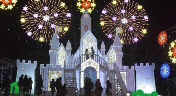 【あしかがフラワーパーク光の花の庭】日本三大イルミネーションの光の演出