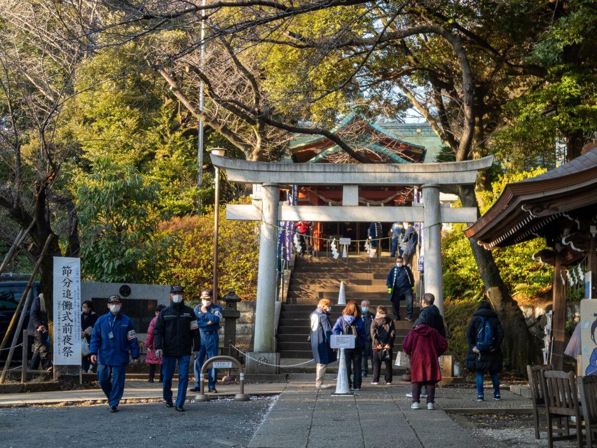 雪ヶ谷八幡神社・令和3年・節分追儺式前夜祭