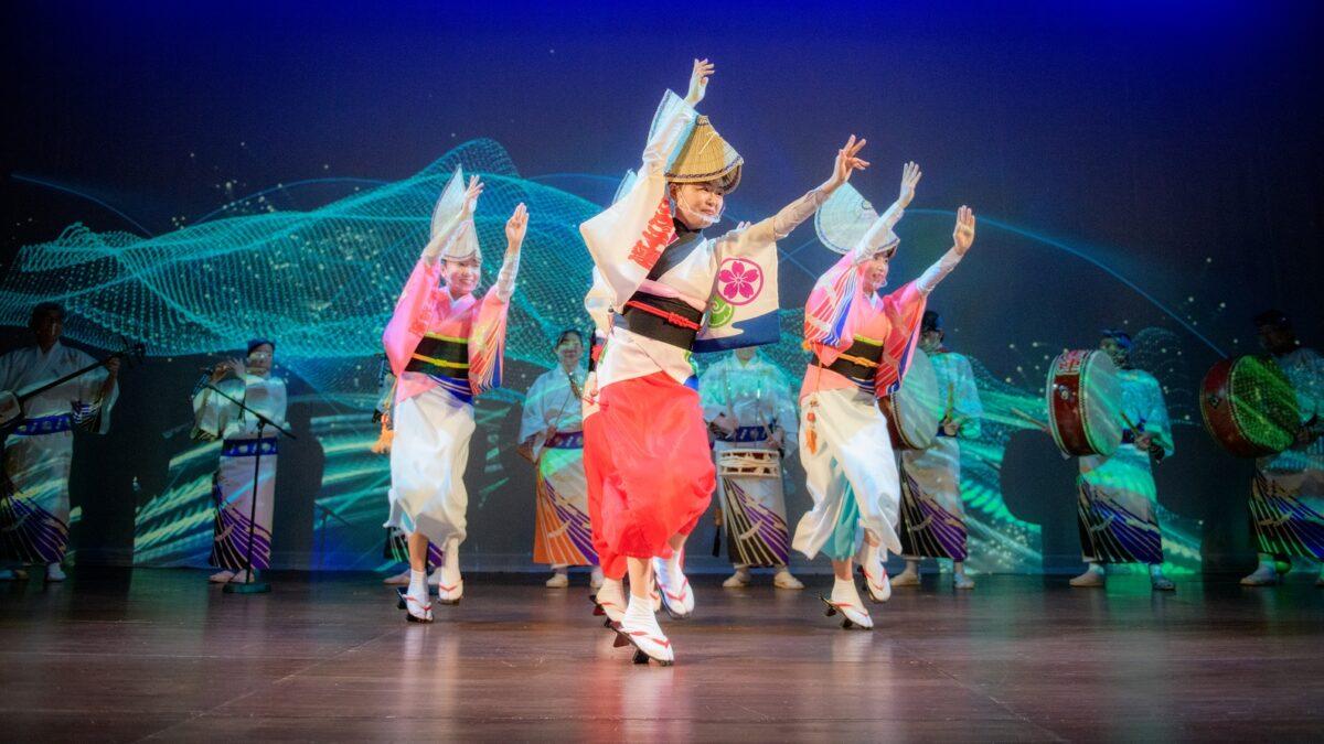 【光も踊る 東京高円寺阿波おどりplus+】プロジェクションマッピングで阿波踊りのグルーヴを感じよう