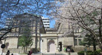 【江戸桜通りの桜】春を迎える日本銀行本店や日本橋三越本店本館、三井本館