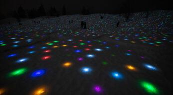 幻想的な雪と光のアートに参加!越後妻有 雪花火