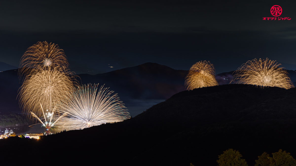 芦ノ湖四湾一斉花火大会開催!史上最大規模の花火で感謝とエールを届ける