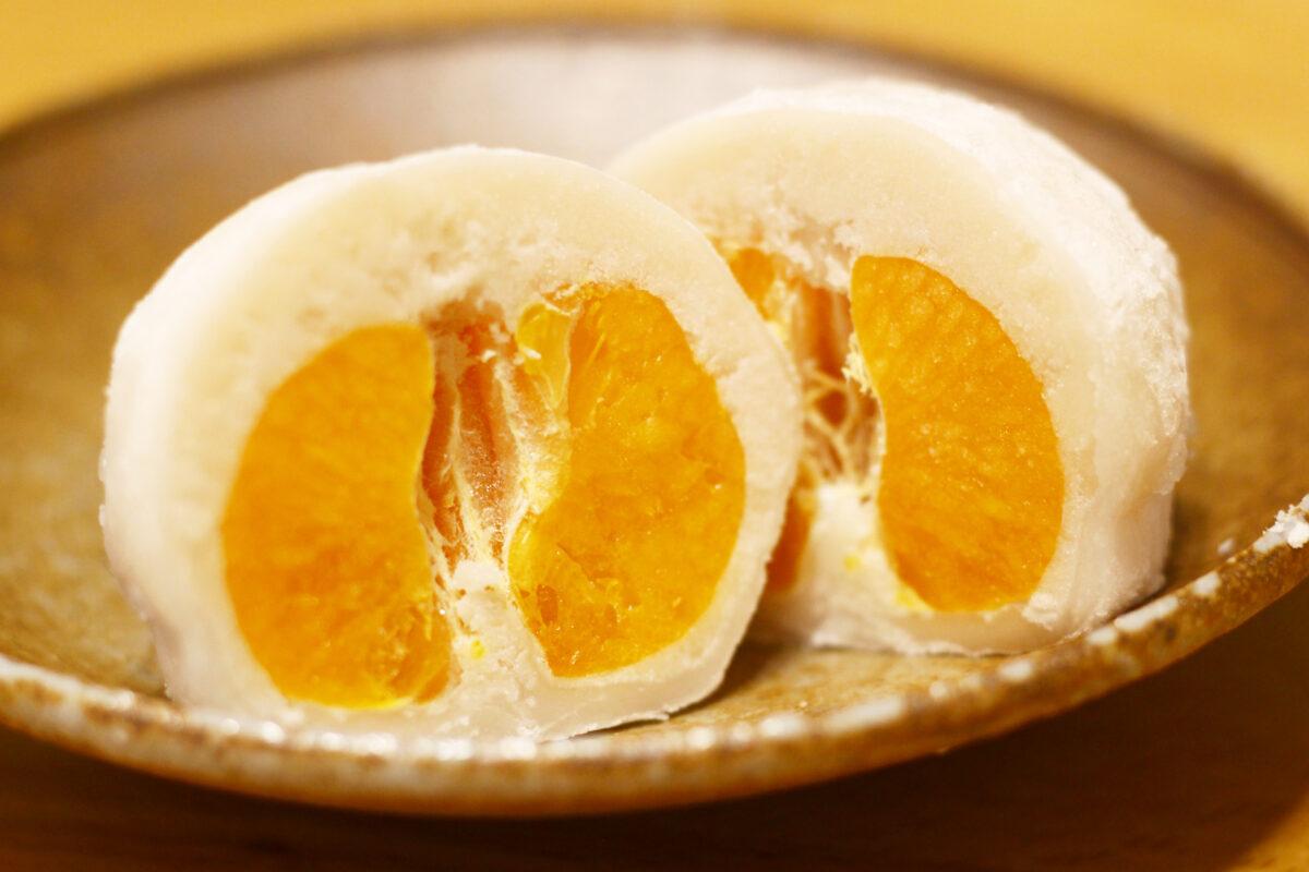 まるごとみかん大福、愛媛の名物を食レポ!糖度12度以上のみかんのお味は?