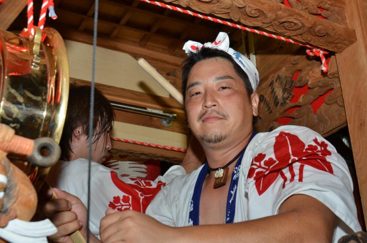 だんじり祭りの祭人
