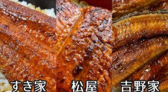 吉野家・すき家・松屋のうなぎを食べ比べ!味は?値段は?2021年まとめ