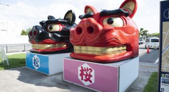 獅子頭16体を探す!?お祭りが盛んな街・山形県酒田市で観光スポットを巡り「酒田大獅子一家」を発見!