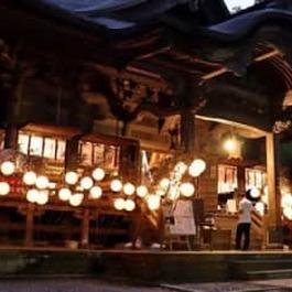夜の境内 優しい光で風流に 加茂・青海神社 8月1日まで催し