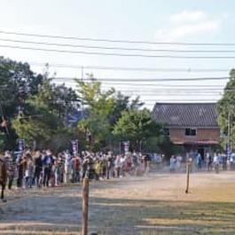 伝統の流鏑馬 2年ぶり奉納 松浦・淀姫神社で例大祭