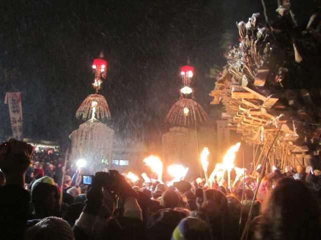 【2021年開催中止】野沢温泉の道祖神祭り