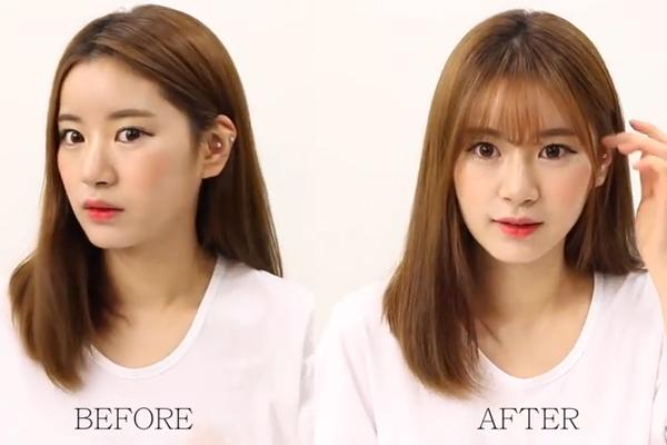 Kết quả hình ảnh cho Tự cắt tóc mái