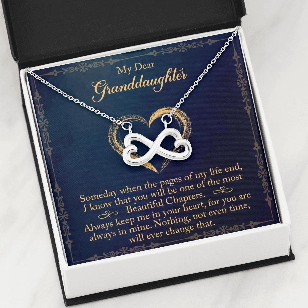 To My Dear Granddaughter - Infinity Hearts Necklace - To My Dear Granddaughter