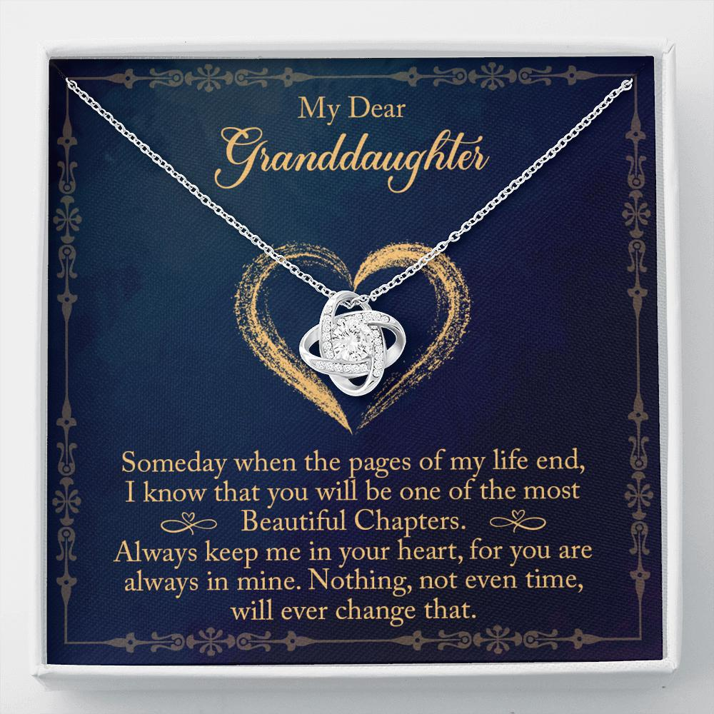To My Dear Granddaughter - Love Knot Necklace - To My Dear Granddaughter