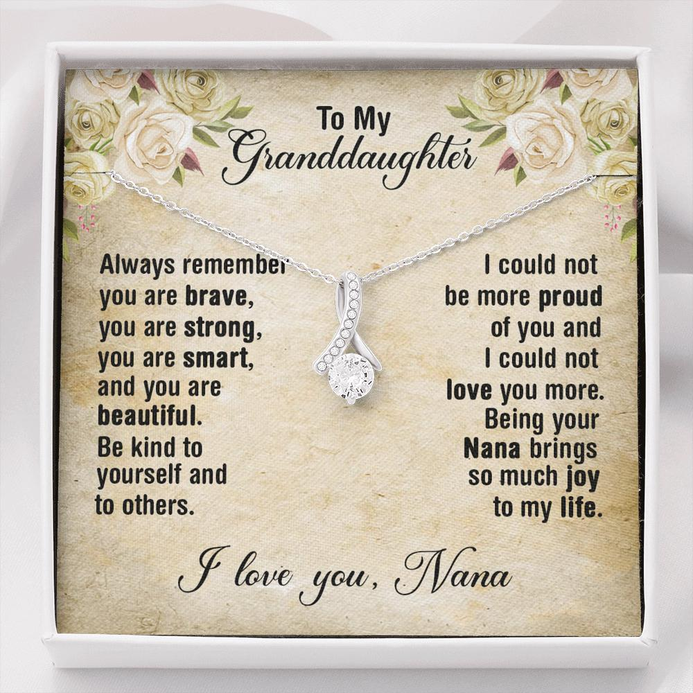 To My Granddaughter - Alluring Beauty Necklace - Always Remember You Are Brave