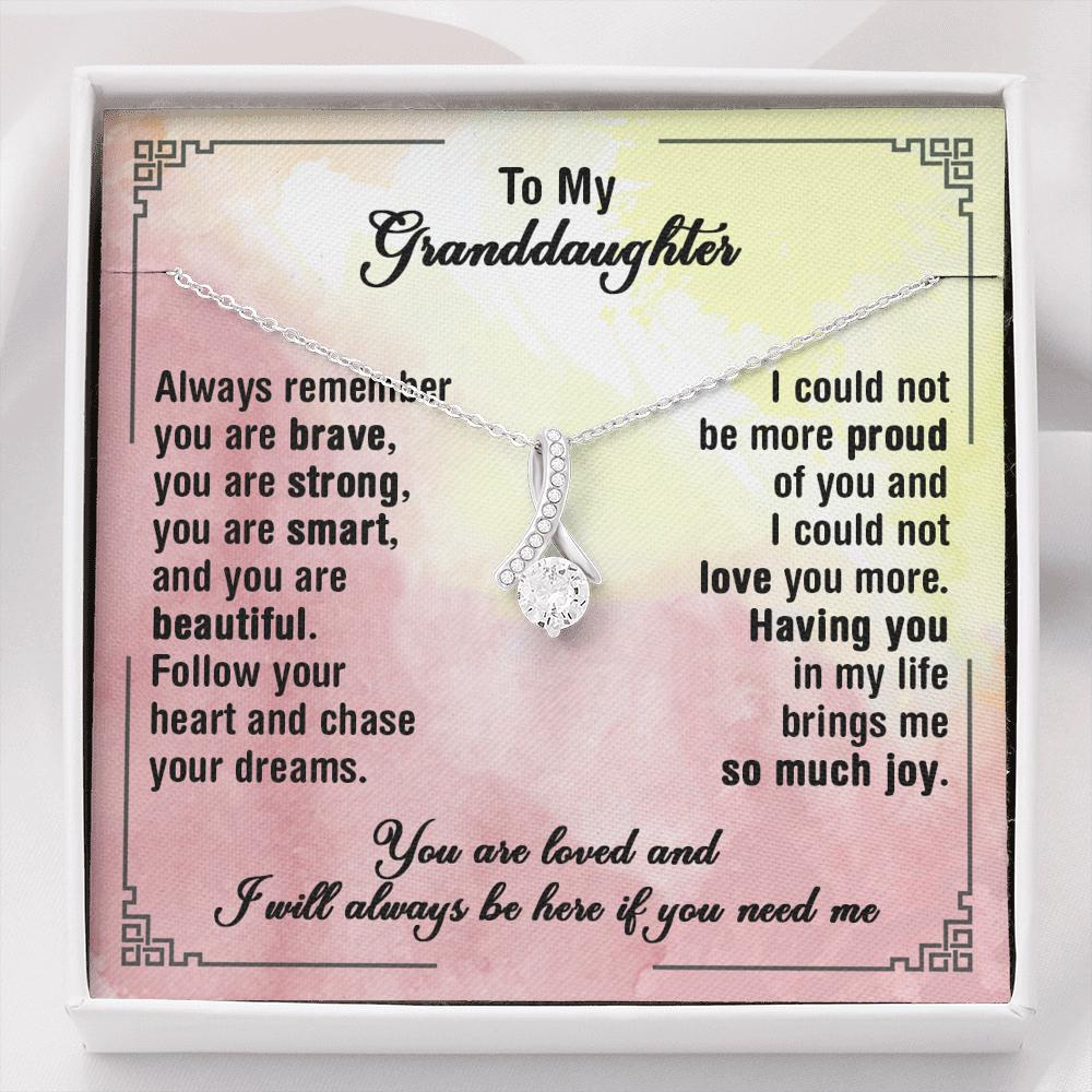 To My Granddaughter - Alluring Beauty Necklace - Chase Your Dreams
