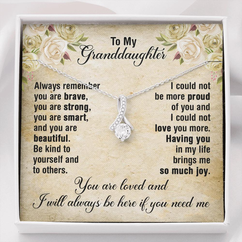 To My Granddaughter - Alluring Beauty Necklace - Follow Your Heart And Chase Your Dreams