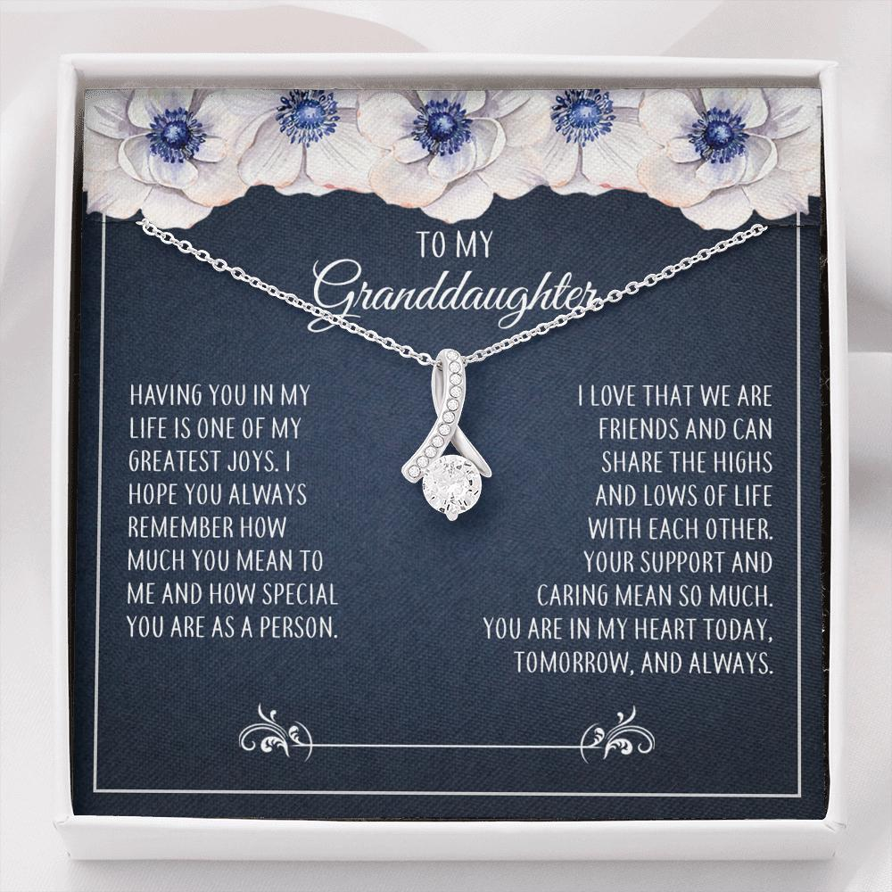 To My Granddaughter - Alluring Beauty Necklace - How Much You Mean To Me