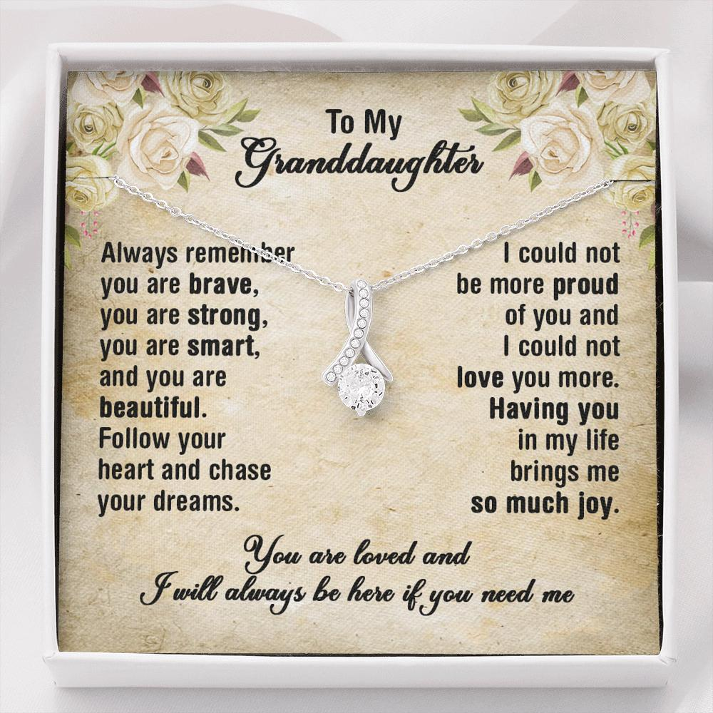 To My Granddaughter - Alluring Beauty Necklace - I Couldn't Love You More
