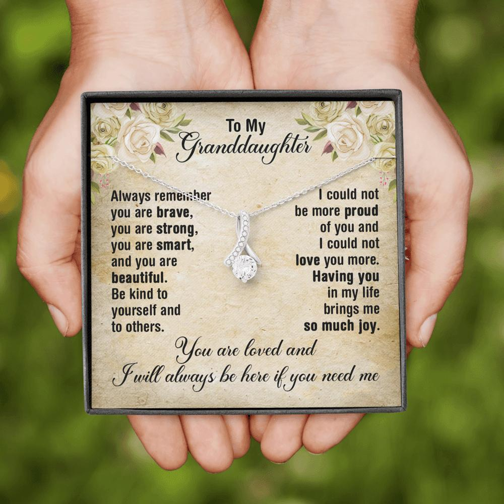 To My Granddaughter - Alluring Beauty Necklace - I Will Always Be Here
