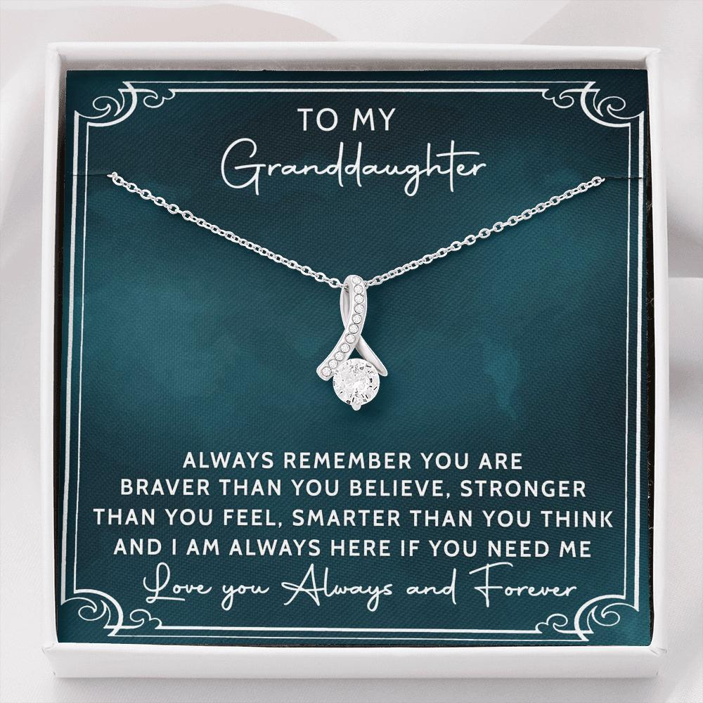To My Granddaughter - Alluring Beauty Necklace - Love You Always And Forever