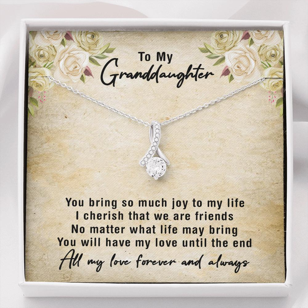 To My Granddaughter - Alluring Beauty Necklace - You Bring Me So Much Joy