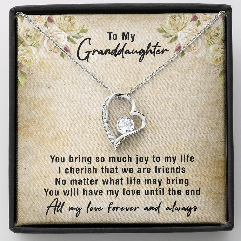 To My Granddaughter - Forever Love Necklace - You Bring Me So Much Joy