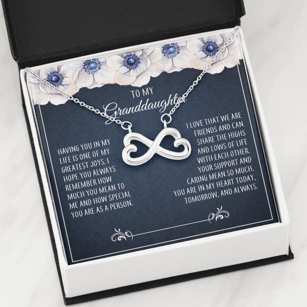 To My Granddaughter - Infinity Hearts Necklace - How Much You Mean To Me