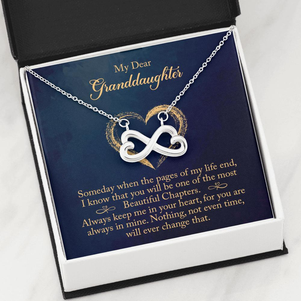 To My Granddaughter - Infinity Hearts Necklace - You Are Always In Mine