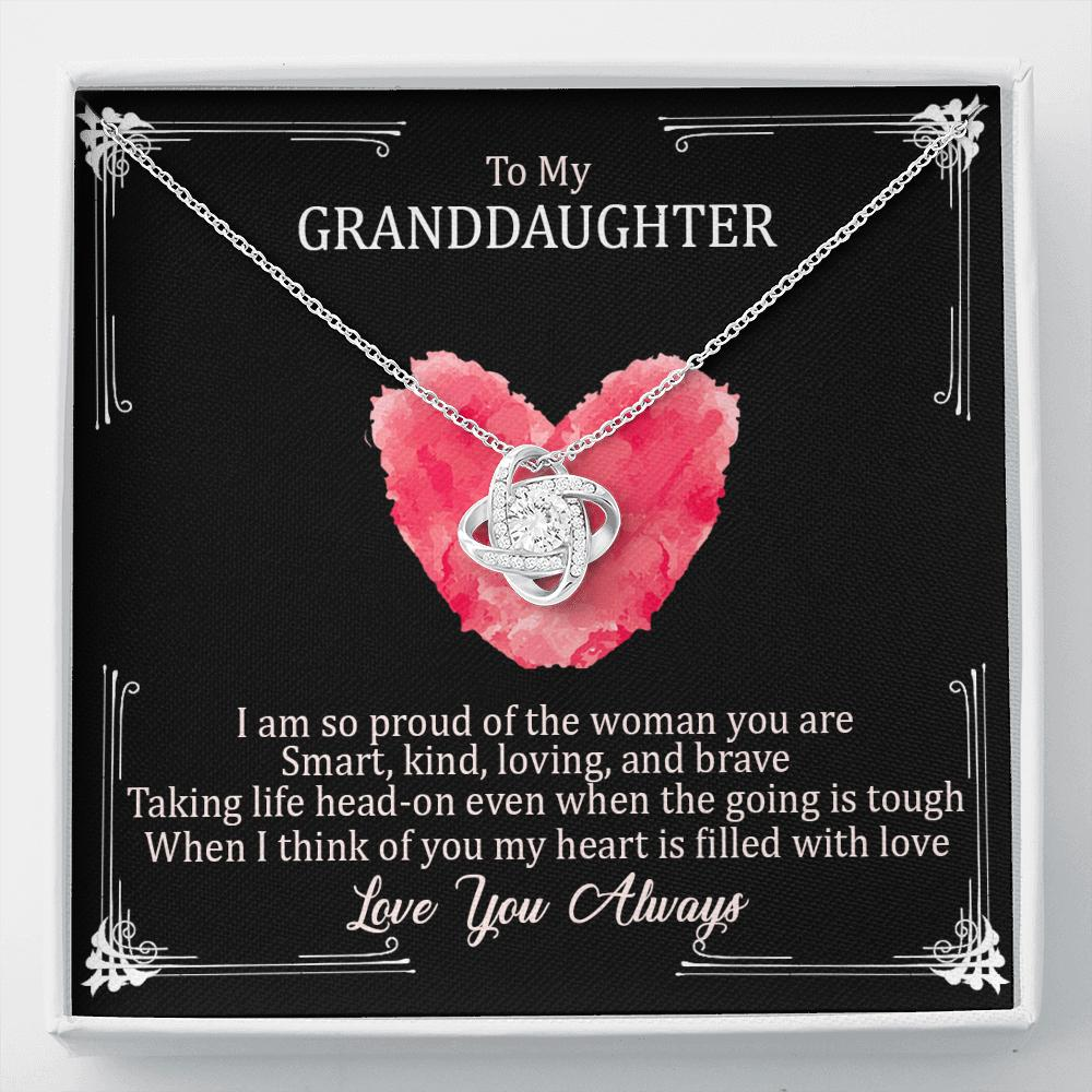 To My Granddaughter - Love Knot Necklace - I Will Always Be Here