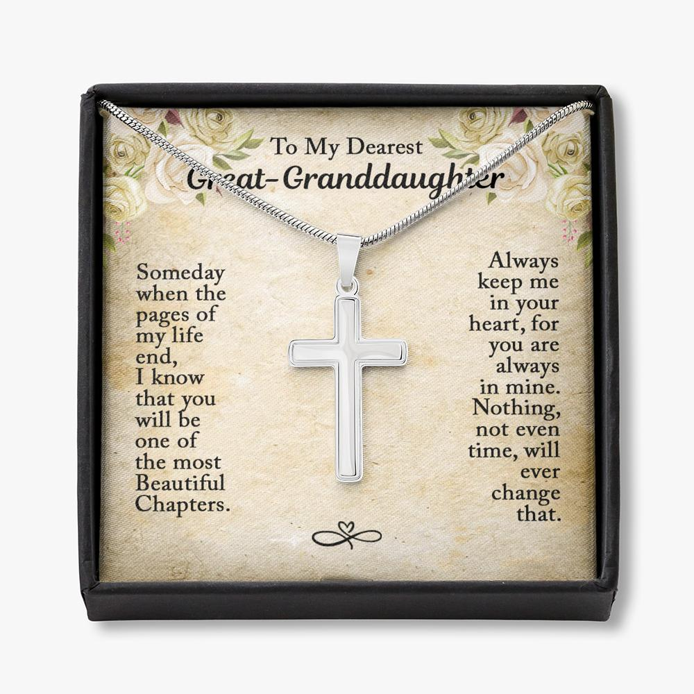 To My Great Granddaughter - Cross Necklace - You Are Always In Mine