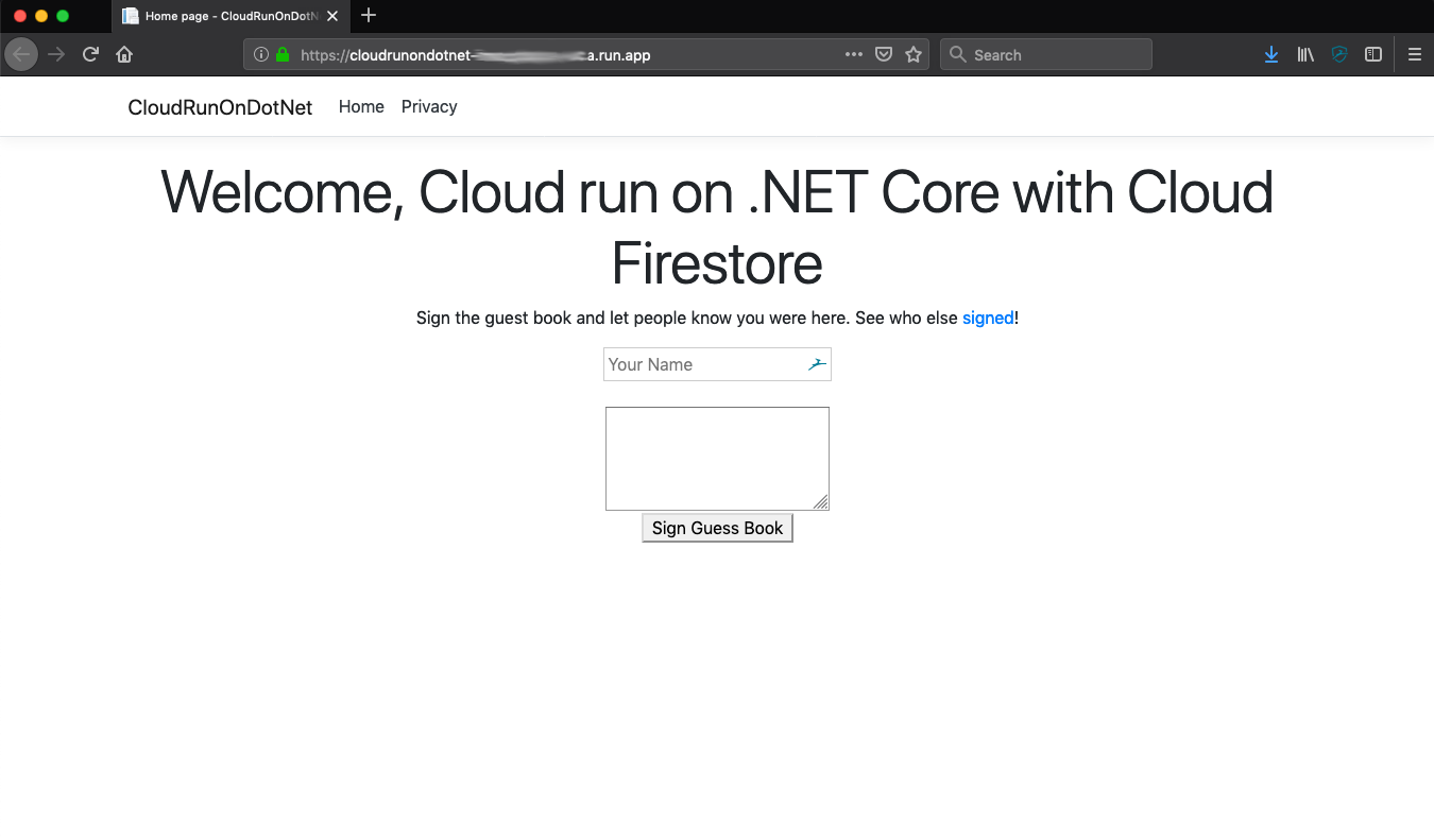 DotNet on Cloud Run