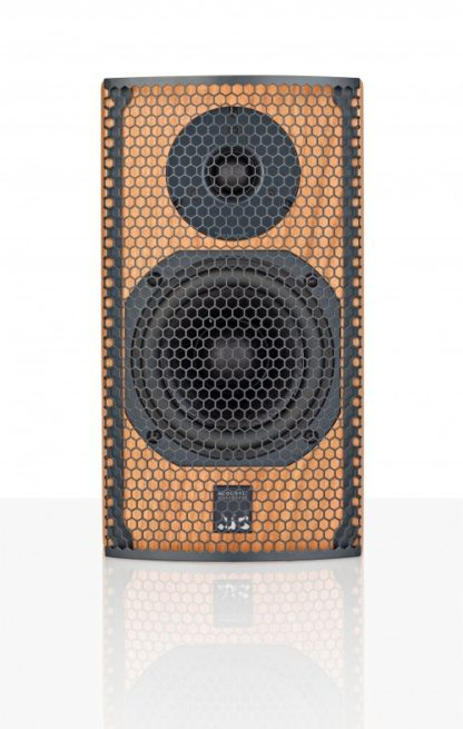 ATC SCM7 Cherry loudspeaker with Grill front view