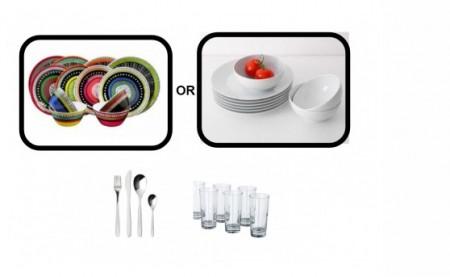 Inhabitr Basic Dining Set