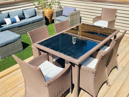 Astounding Rent Patio Outdoor Dining Set River North Download Free Architecture Designs Scobabritishbridgeorg