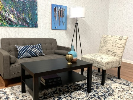 Chic Lite Living Room Rental Furniture Set