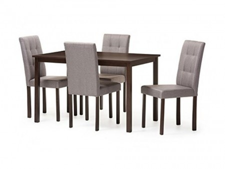 Modern Light Grey Dining Set