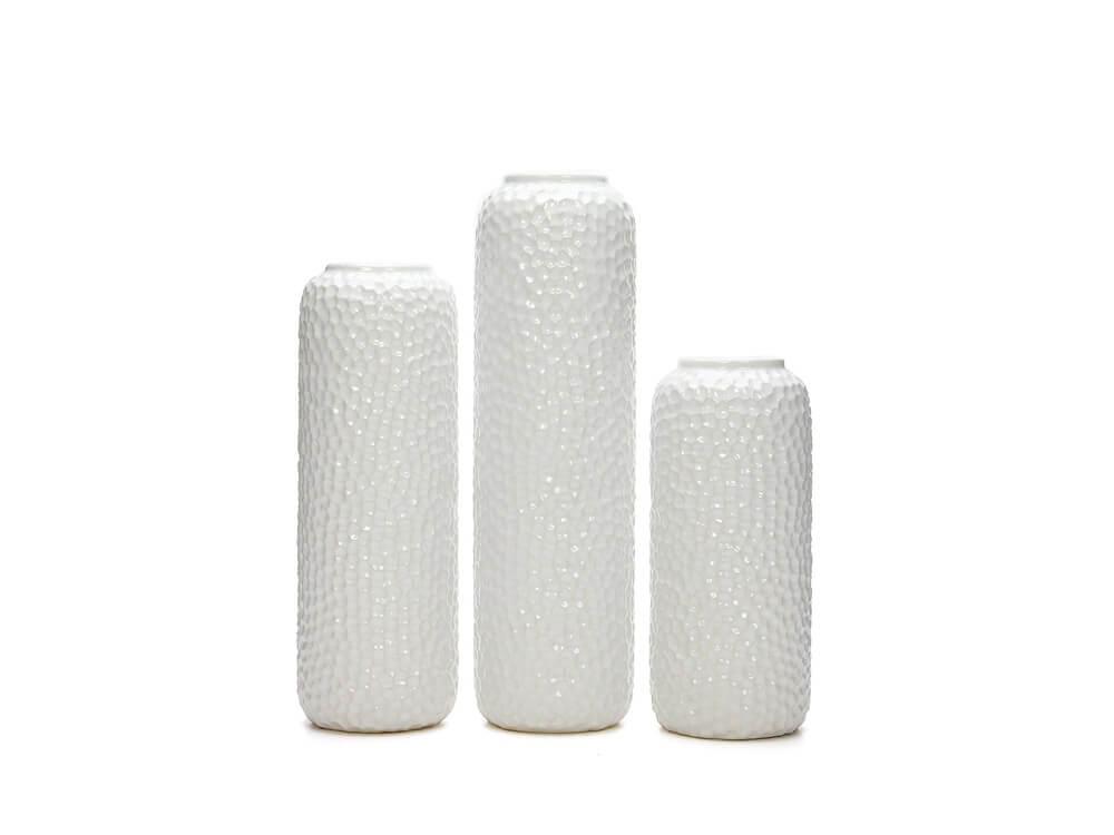 white vase collection