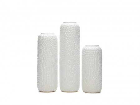 white vase collection