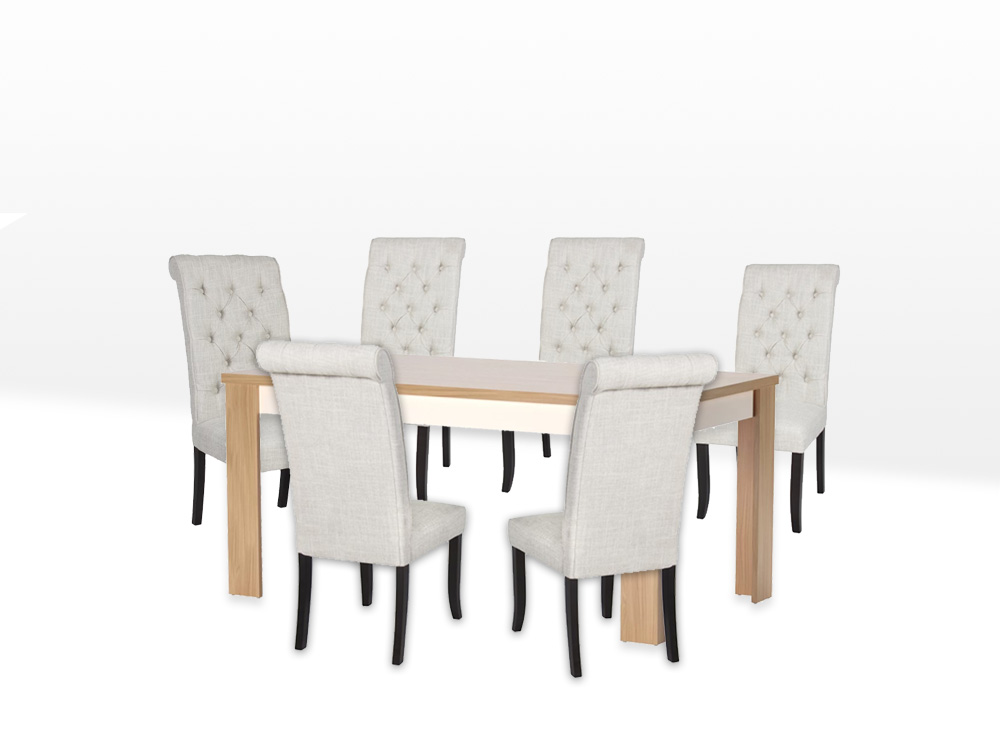 White Dove Dining Package Table